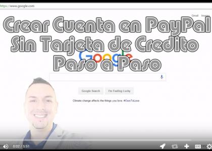 Crear Cuenta en PayPal | Sin Tarjeta de Credito | Paso a Paso | HD 2016
