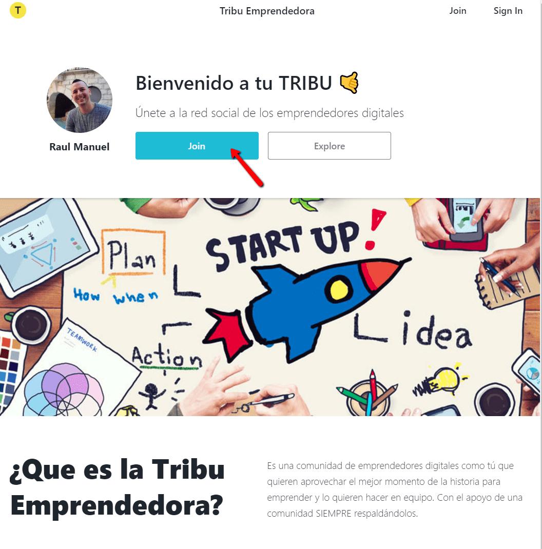 Cómo puedo unirme a la Tribu Emprendedora